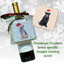 Red & White Italian Spinone Christmas Coasters