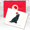 Briard, Black Uncropped Christmas Cards