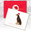 Red Doberman Pinscher Christmas cards