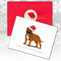 English Staffordshire Terrier Christmas Cards