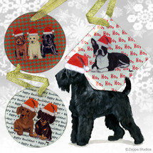 Black Russian Terrier Christmas Ornaments