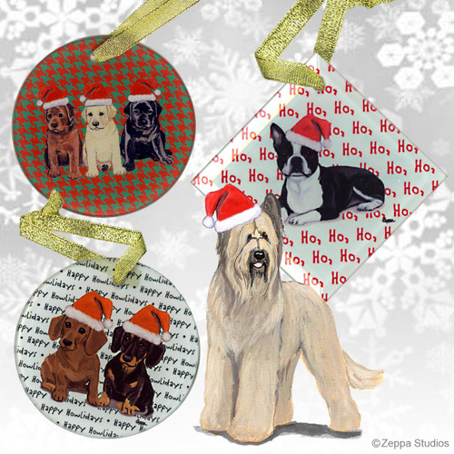 Briard Christmas Ornament