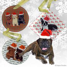 Bull Mastiff Christmas Ornament
