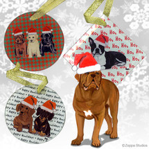 Dogue de Bordeaux Christmas Ornament