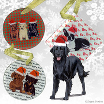 Flat Coated Retriever Christmas Ornament