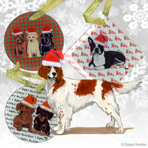 Irish Red and White Christmas Ornaments
