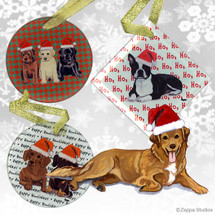 Nova Scotia Duck Tolling Retriever Christmas Ornaments
