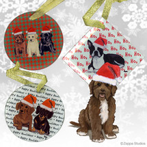 Brown Portuguese Water Dog Ornament
