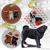 Black Pug Xmas Ornament