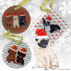Pug Sitting Xmas Ornament