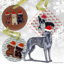 Scottish Deerhound Christmas Ornaments