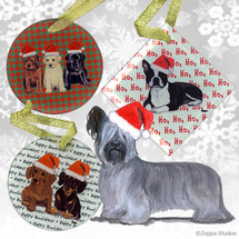 Skye Terrier Christmas Ornaments
