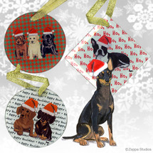 Toy Manchester Terrier Christmas Ornaments