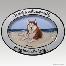 Hand Painted Message Oval Platter