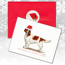 Irish Red and White Setter Christmas Cards