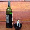 Hand decorated horse face stemless wine glasses.