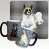 Akita Lying Down Houndzstooth Mug