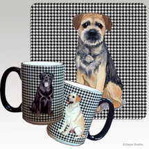 Border Terrier Houndzstooth Mug