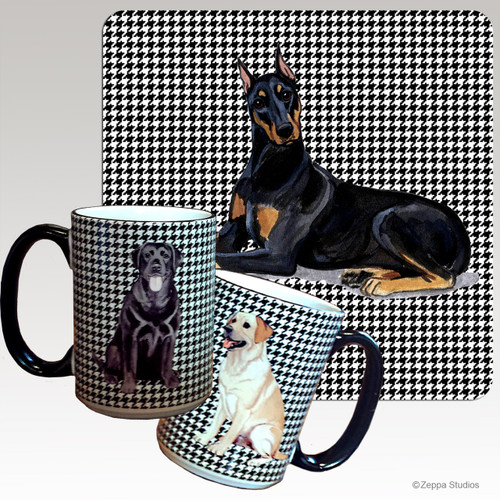 Doberman Houndzstooth Mug