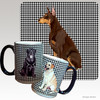 Red Doberman Houndzstooth Mug