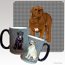 Dogue de Bordeaux Houndzstooth Mugs