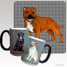 English Staffordshire Terrier Houndzstooth Mug