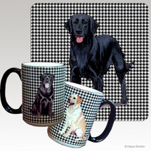 Flat Coated Retriever Houndzstooth Mug