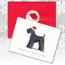 Kerry Blue Terrier Christmas Cards