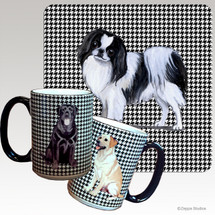 Japanese Chin Houndzstooth Mug