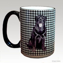 Black Lab Houndzstooth Mug