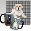 Yellow Lab Puppy Houndzstooth Mug
