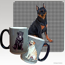 Miniature Pinscher Houndzstooth Mug
