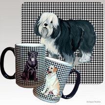 Polish Lowland Sheepdog Houndzstooth Mug