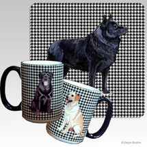 Schipperke Houndzstooth Mug - Rectangle