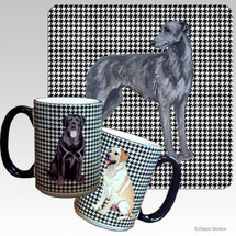 Scottish Deerhound Houndzstooth Mug - Rectangle