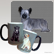 Skye Terrier Houndzstooth Mug - Rectangle