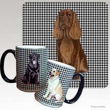 Sussex Spaniel Houndzstooth Mug - Rectangle