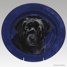 Custom Black Lab Portrait 11 inch Plate