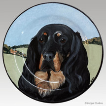 Gallery Style Hand Painted 11 inch Plate - Gordon Setter