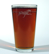 A pint of your favorite brew in our Waterdog Classic Pub Glass.