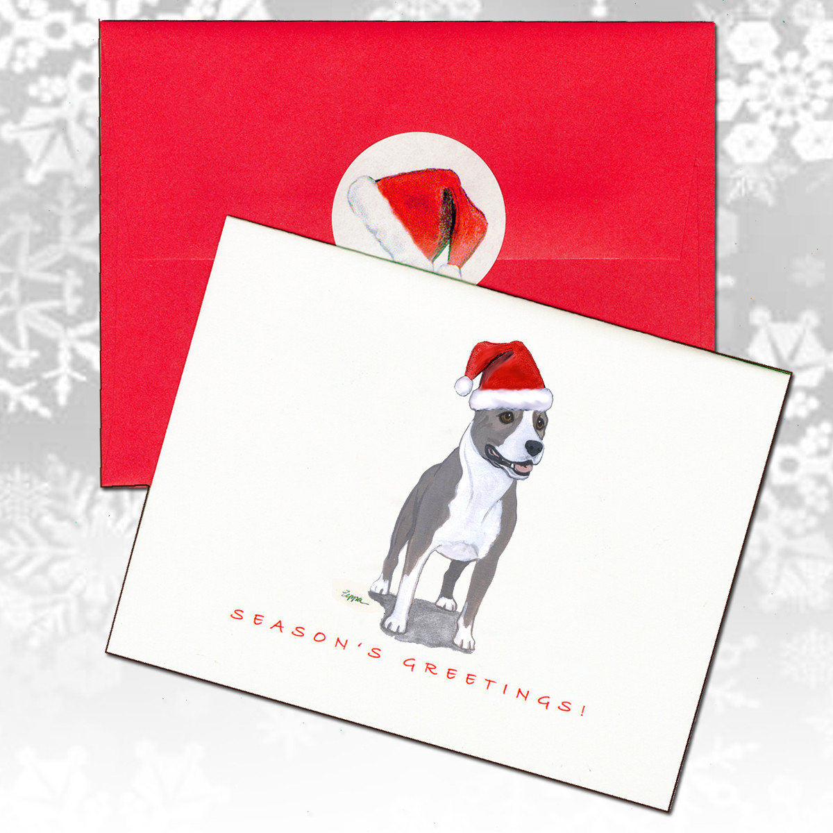 Pit Bull Christmas Cards