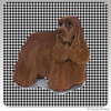 Chocolate Cocker Spaniel Houndzstooth Coasters