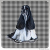 Black and White Cocker Spaniel Houndzstooth Coasters