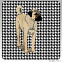 Anatolian Shepherd Dog Houndzstooth Coasters