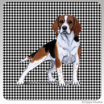 Beagle Houndzstooth Coasters