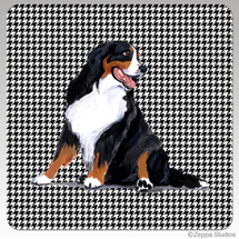 Bernese Mountain Dog Houndzstooth Coasters