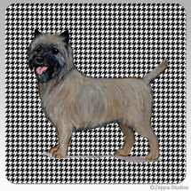 Cairn Terrier Houndzstooth Coasters