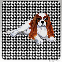Cavalier King Charles Blenheim Houndzstooth Coasters