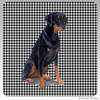 Uncropped Doberman Houndzstooth Coasters
