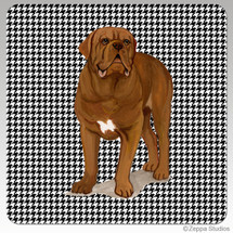 Dogue de Bordeaux Houndzstooth Coasters